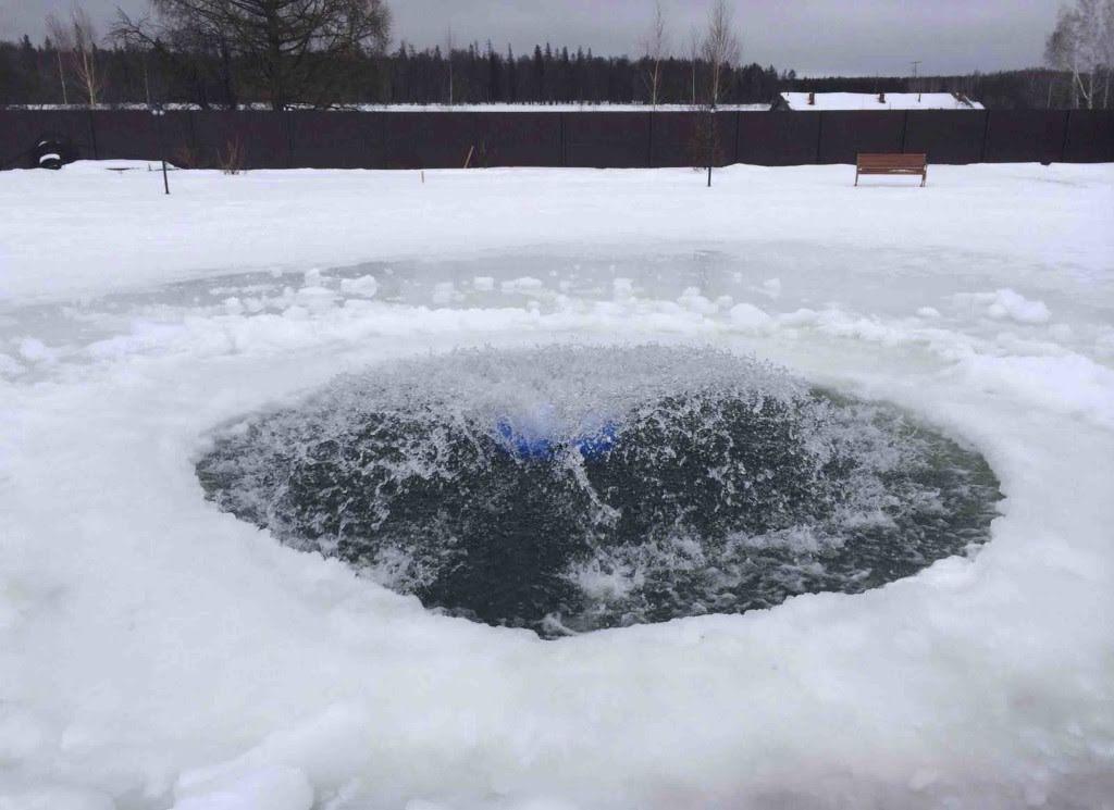 Вода с аэрацией не замерзает